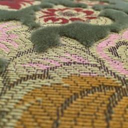 イタリア製 金華山織張り 肘掛付スツール 立体感がありやわらかな肌触りの金華山織張りです。