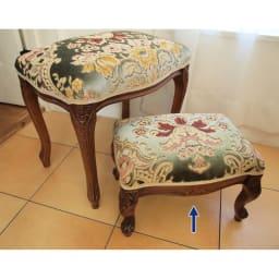 イタリア製金華山織シリーズ フットスツール(足置き) ソファやスツールの足置きとして、玄関などのカバン置き等に使用してもおしゃれです。