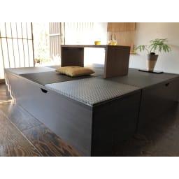 市松模様美草ユニット畳シリーズ セット品 高さ30cm フローリングのお部屋でも和モダンの空間を実現。