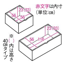 市松模様美草ユニット畳シリーズ セット品 高さ40cm 収納部内寸図