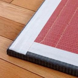 へりなしフロア畳 ミックス色 裏面には滑り止め付きで安心。敷く場所を選びません。