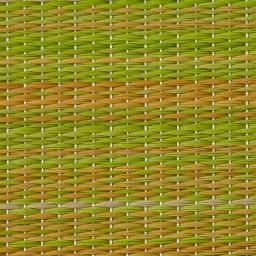 へりなしフロア畳 ミックス色 素材アップ(ウ)イエロー系