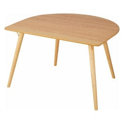 省スペース半円ダイニングテーブル幅120cm (ア)ナチュラル