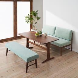 ゆったり寛げるリビングダイニングシリーズ テーブル コーディネート例(イ)ブラウン