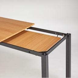 ブルックリン風天然木伸長ダイニングテーブル