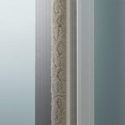大型パントリーシリーズ スライド収納庫 ガラス扉 幅80cm 扉にはホコリ除けがついているので、大切な食器も清潔に収納できます。