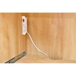 天然木伸長式キッチンカウンター 幅79.5~126cm