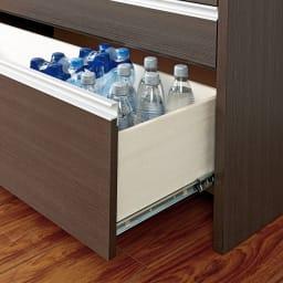 ステンレストップ間仕切りカウンター 幅120cm 最下段は500mlペットボトルにぴったり。買いだめをしても安心。