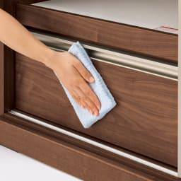 大型引き戸ハイカウンター 幅90cm 表面は汚れに強くお手入れしやすいEBコート。