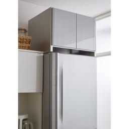 光沢仕上げ冷蔵庫上置き 奥行35.5高さ35.5cm