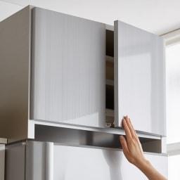 光沢仕上げ冷蔵庫上置き 奥行55高さ35.5cm