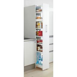 頑丈ボックス付き隙間収納ワゴン 奥行55cmタイプ 幅35cm キッチンのすき間があっという間に大量収納庫に変身します! ※写真は奥行55幅25cmタイプです。お届けは奥行45幅15cmとなります。