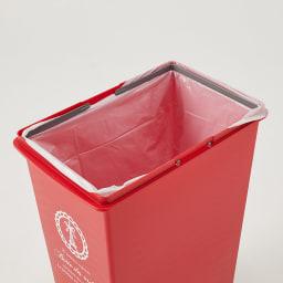 フタスライド式ゴミ箱 ゴミ袋ストッパー付き。