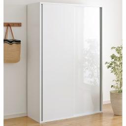 全部隠せる スライド棚付きキッチン家電収納庫 ハイタイプ ※引き戸の扉が左扉前、右扉後ろとなっています。どちらでも使用可能ですが正しくは左扉後ろ、右扉前となります。