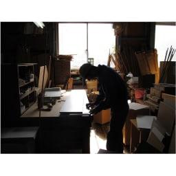 全部隠せる スライド棚付きキッチン家電収納庫  ロータイプ 国産老舗家具メーカーの熟練された職人がひとつずつ、丁寧に仕上げた商品です。