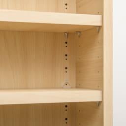 幅が1cm単位でオーダーできる2面オープンすき間収納庫 奥行55cm 幅15~19cm 可動棚は3cm間隔19段階で高さ調節可能です。