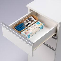 分別ごみ箱付きすき間収納庫 3分別ロータイプ 奥行61高さ85cm (ア)ホワイト