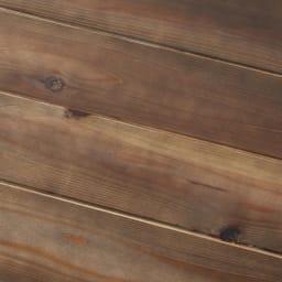 収納力たっぷり! 国産杉の頑丈キッチンラックシリーズ レンジラック3段 幅58cm (イ)ダークブラウン:杉本来の素材にダークブラウン色を塗装することで高級感をプラス。