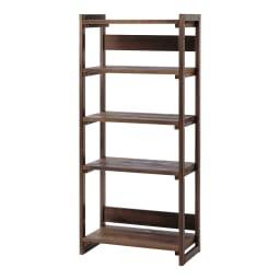 収納力たっぷり! 国産杉の頑丈キッチンラックシリーズ レンジラック5段 幅81cm シンプルなデザインなので、書棚や飾り棚としてもお使いいただけます。