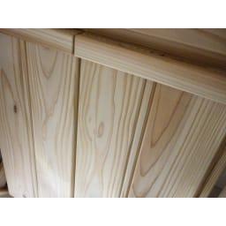 国産杉のキッチン収納シリーズ 分別ダストボックス 3分別タイプ 幅72cm 杉の木目がはっきりと綺麗に出ています。