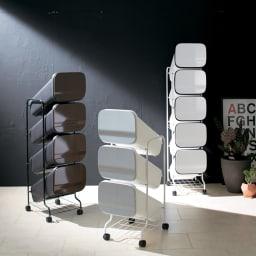 省スペース!高機能インテリアタワーダストボックス  4段・高さ122cm シックな空間を演出する、デザイン性の高いゴミ箱です。