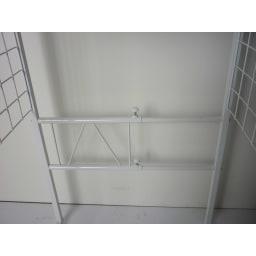 幅が伸縮するキッチン作業台ラック 奥行45cm 幅30cm~50cm ※ お届けはラックのみです。