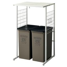 幅が伸縮するキッチン作業台ラック 奥行45cm 幅30cm~50cm ※お届けはラックのみです。