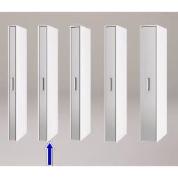 ボックス付きリバーシブル すき間収納庫 幅17奥行58cm シリーズは幅15、17、19、21、29cmの5タイプ 5サイズから選べます。 ※写真は奥行58cmタイプシルバー面使用時です。
