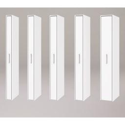 ボックス付きリバーシブル すき間収納庫 幅29奥行58cm シリーズは幅15、17、19、21、29cmの5タイプ 5サイズから選べます。 ※写真は奥行47cmタイプホワイト面使用時です。
