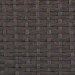 ラタン調バスケットワゴン 幅50.5cm (イ)ダークブラウン