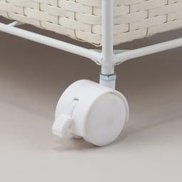 ラタン調バスケットワゴン 幅60.5cm キャスター付きで移動簡単。