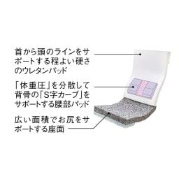 サイズを選べる 腰にやさしいリラックスチェアⅢ 洗えるカバー付き 【腰をサポートする特許構造】