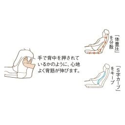 サイズを選べる 腰にやさしいリラックスチェアⅢ 洗えるカバー付き 【背中を支えられているような座り心地】