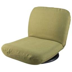 特許を取得した腰に優しい回転座椅子 ロータイプ 写真はカバー(別売り)付き。(ウ)グリーン