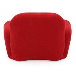 すっぽり収まる肘付きリクライニング座椅子 (イ)レッド