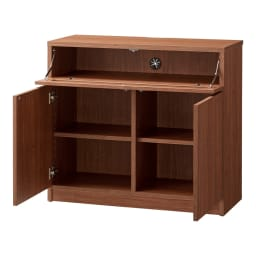 【完成品・国産家具】ベッドルームで大画面シアターシリーズ テレビ台・テレビボード 幅80高さ70cm (ウ)ダークブラウン デッキ収納部の有効内寸は、幅75.7cm、高さ13.5cm、奥行30cmです。