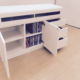 【完成品・国産家具】ベッドルームで大画面シアターシリーズ テレビ台・テレビボード 幅105高さ70cm 扉内は可動棚2枚付。収納物に合わせて調整できます。