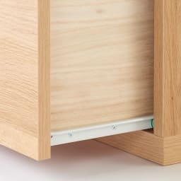 住宅事情を考えた天然木調コーナーテレビ台・テレビボード 右コーナー用 幅123.5cm 引き出しは開閉しやすいスライドレール付き。