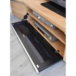 住宅事情を考えた天然木調コーナーテレビ台 右コーナー用 幅165cm デッキ収納部