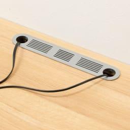 住宅事情を考えた天然木調コーナーテレビ台・テレビボード 左コーナー用 幅123.5cm 天板の奥から配線できるコード穴付き。
