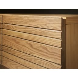 天然木無垢材のテレビ台・テレビボード アッシュ天然木 幅150cm 前板は無垢材の質感を生かしたアッシュ天然木。