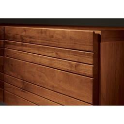 天然木無垢材のテレビ台・テレビボード ウォルナット天然木 幅200cm 前板は無垢材の質感を生かしたウォルナット天然木。