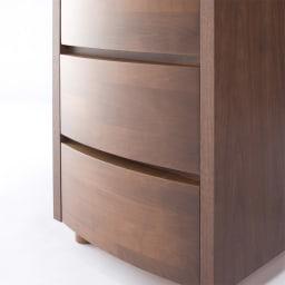 アルダー天然木アールデザインテレビ台シリーズ ハイチェスト 幅45.5高さ113.5cm 天然木の魅力を引き出す曲線加工。