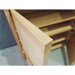 アルダー天然木アールデザインテレビ台シリーズ キャビネット 幅85高さ89.5cm 下扉