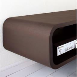 曲面加工のラウンドシェルフシリーズ テレビ台・テレビボード 2段3連 幅165cm 高さ39cm脚なしタイプ まるで1枚板のように美しい曲面ライン。