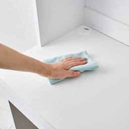 本好きの為のデスクシリーズ デスク本体 幅90cm 天板はポリエステル化粧板でキズや汚れに強い仕様。
