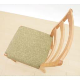 洗えるカバー付き天然木チェア
