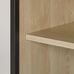 ワークライフバランスのためのフォールディングデスク+シェルフ 幅64cm奥行35cm 3段5cm間隔で調節できる可動棚に資料やファイルを効率収納。