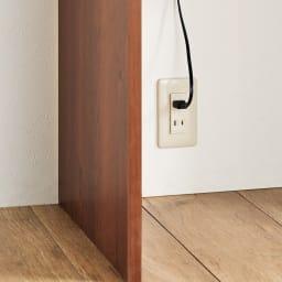 キレイにしまえるリビングL型デスク 幅60cm 奥行50cm 足元には背板がないので、壁のコンセントがスムーズに使えます。