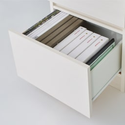 配線すっきり幅オーダーデスク デスク下チェスト 幅40cm 最下段は本や資料の整理整頓に便利です。内寸:幅30奥行34.5cm
